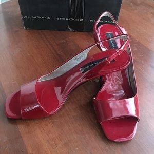 Cute Hot Red Shoes by Steven. Size #8.5